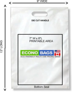 9 x 13 bottom seal econo bag