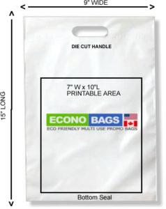 8 x 15 bottom seal econo bag