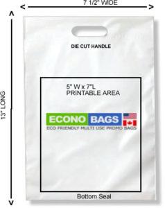 7 1/2 x 13 bottom seal econo bag
