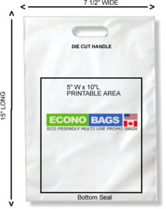 7 1/2 x 15 bottom seal econo bag