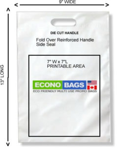 9 x 13 side seal econo bag